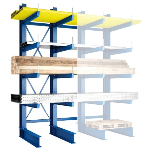 One-sided cantilever rack - Medium 2500/400 mm - BP