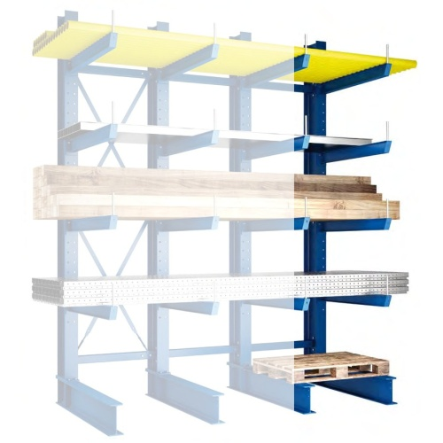 One-sided cantilever rack - Medium 2500/400 mm - EP