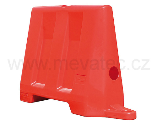 Road barrier 1m - red