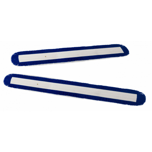 Set of blue V-mops with buttons