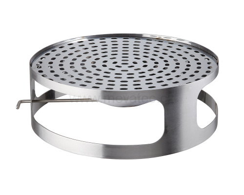 Lid for concrete bin with ashtray - stainless steel