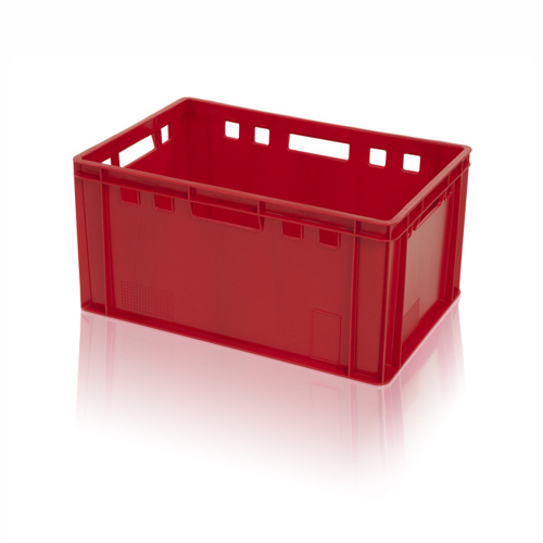 Plastic crate for meat products E3