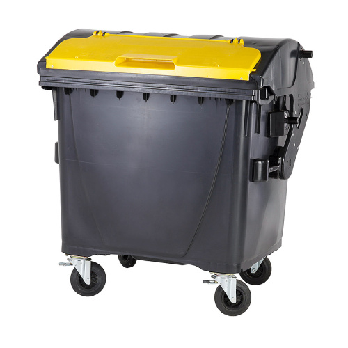 Plastic container 1100 litres - black and yellow V/V