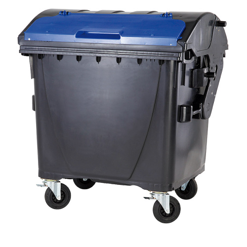 Plastic container 1100 litres - black and blue V/V