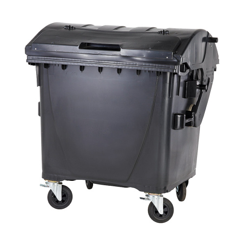 Plastic container 1100 litres - black and black V/V