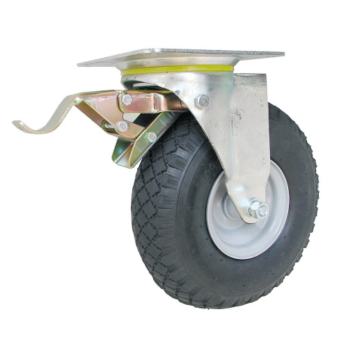 Revolving inner tube wheel with brake