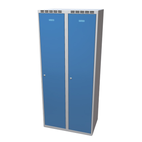 Clothes cabinet with partition 800 mm - greyish-blue