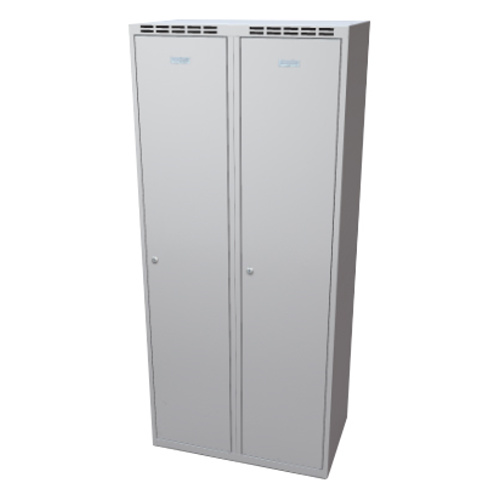Clothes cabinet with partition 800 mm - grey