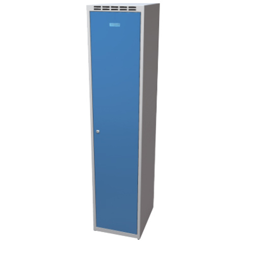 Clothes cabinet with partition 400 mm - greyish-blue