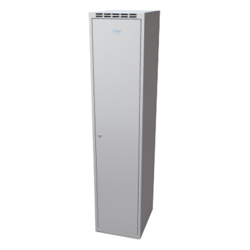 Clothes cabinet with partition 400 mm - grey