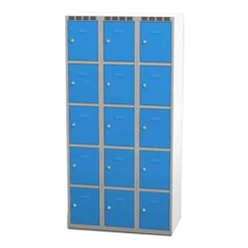 Wardrobe with 15 cases - greyish-blue
