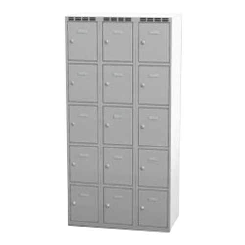 Wardrobe with 15 cases - grey