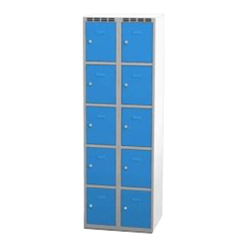 Wardrobe with 10 cases - greyish-blue