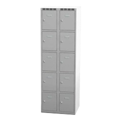 Wardrobe with 10 cases - grey