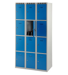 Wardrobe with 12 cases - greyish-blue