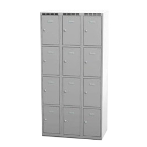 Wardrobe with 12 cases - grey