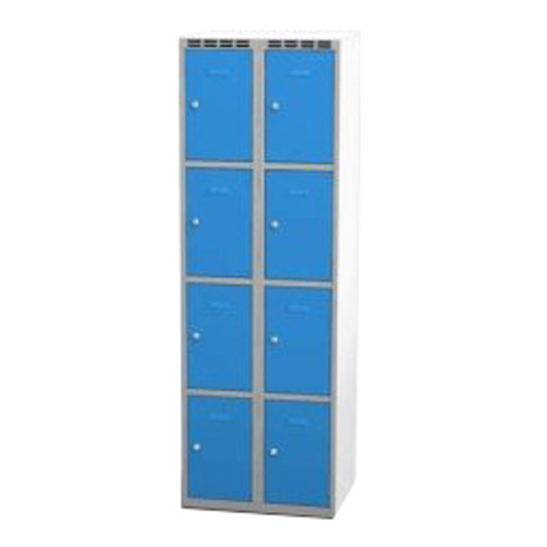 Wardrobe with 8 cases - greyish-blue