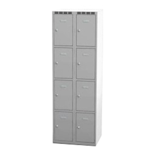 Wardrobe with 8 cases - grey
