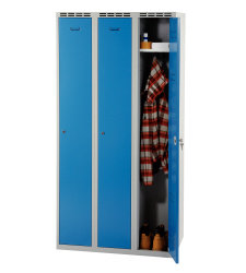 Wardrobe w 900 mm - greyish-blue