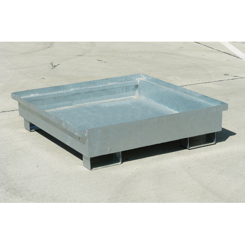 Trapping tub without grid - galvanized
